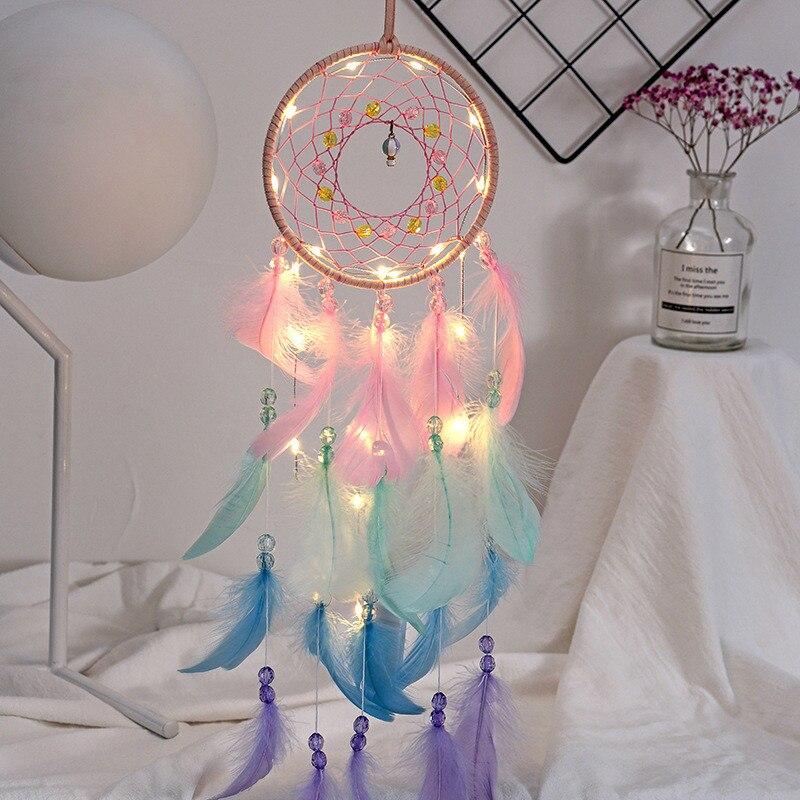 Купить с кэшбэком Hot air balloon dream catcher hanging decoration indoor decoration wedding decoration creative birthday gift garden wind chimes