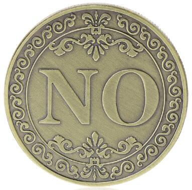 YES Or NO Commemorative Coin Floral YES NO Letter Ornaments Collection Arts Gifts Souvenir