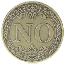 YES or NO Commemorative Coin Floral Letter Ornaments Collection Arts Gifts Souvenir
