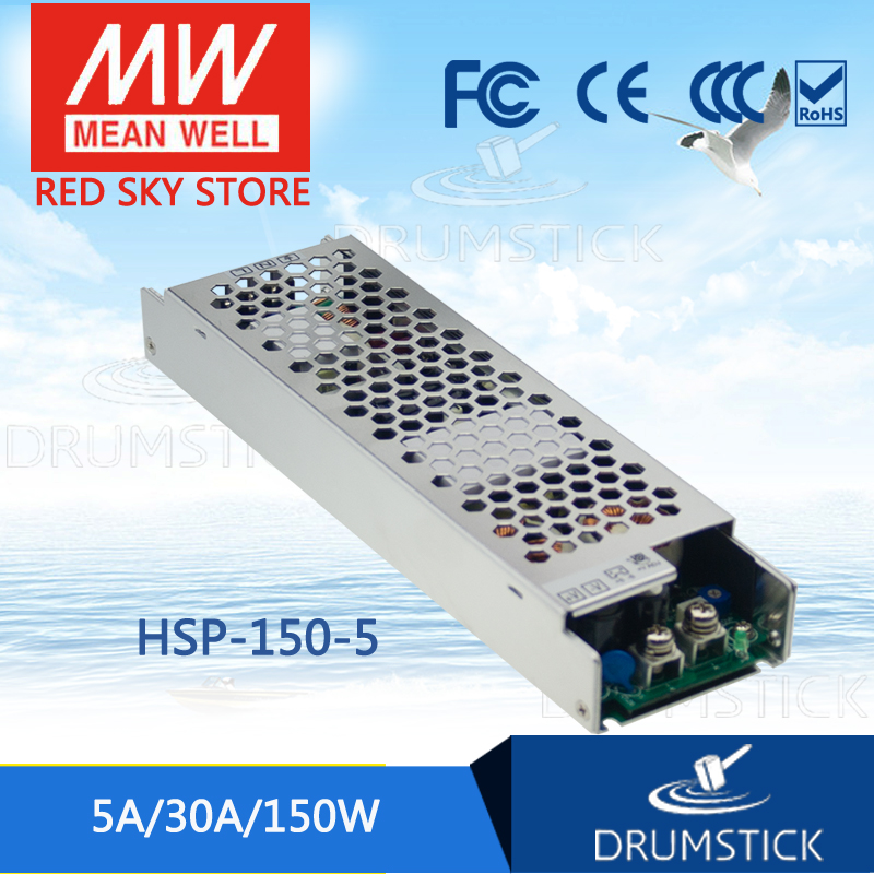 MEAN WELL HSP-150-5 5V 30A meanwell HSP-150 5V 150W Single Output with PFC Function Power Supply [Real6] [cheneng]mean well original lpp 150 5 5v 30a meanwell lpp 150 5v 150w single output with pfc function