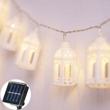 20Led Fairy Castle House Solar Power String Lights 5m LED Decoration For Outdoor Garden Christmas Garland Wedding gerlyanda 2018