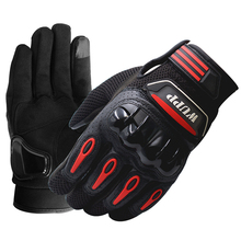 New Red Summer Motorcycle Gloves Touch Screen Full Riding Off-road Vehicle Supplies Waterproof