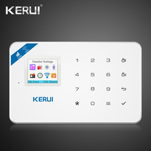 цены на 2019 Kerui W18 Wireless Wifi GSM IOS Android APP Control Auto Dial LCD GSM SMS Burglar Alarm System For Home Security  в интернет-магазинах
