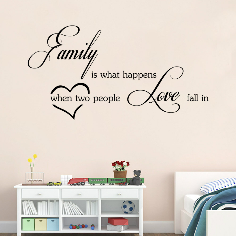 Love Wall Quotes Family Love Wall Stickers English Wall Quotes Vinyl Home Decor