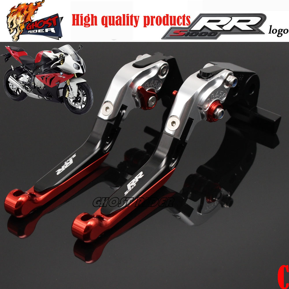 ФОТО GHOST RIDER For BMW S1000RR 2010-2015 2016 CNC Aluminum Adjustable Folding Extendable Brake Clutch Levers 1##