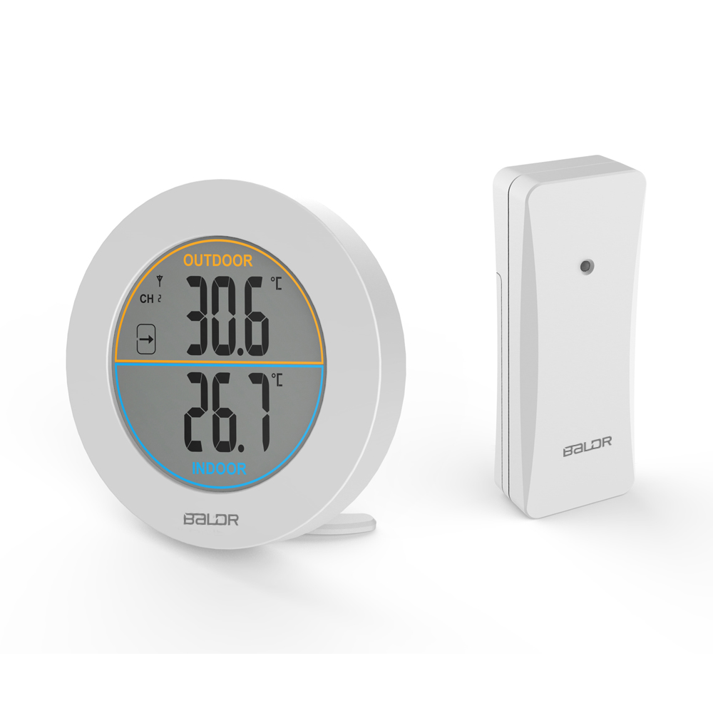Baldr Wireless Thermometer Max/Min Records Trend Indicator Monitor LCD Display Digital Wall Table Temperature Meter Sensor