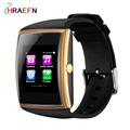 Hraefn lg518 bluetooth smart watch sim apoio tf cartão nfc monitor de saúde smartwatch para ios apple iphone android pk gt08 DZ09