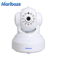 White Marlboze C7837WIP CCTV 720P Dome Camera Wifi IP Camera Day Night Vision Wireless HD P2P