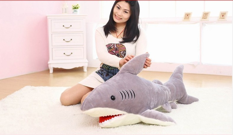 new creative plush shark toy stuffed gray shark doll birthday gift about 100cm big lovely simulation cow plush toy creative stuffed cow doll birthday gift about 75cm