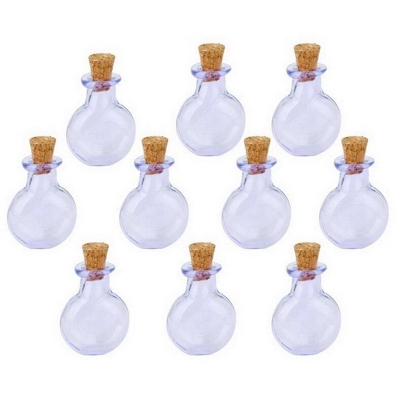 € 5.15  10 Pcs diy Verre Cork Plat Rond Vial Souhaitant Bouteille BRICOLAGE  Pendentif Violet dans Vases de Maison & Jardin sur AliExpress.com   ...