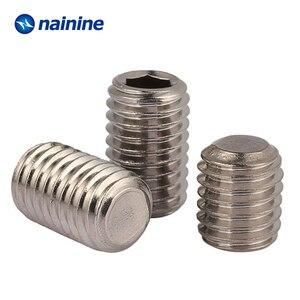Image 2 - DIN913 [M2 M12] 304ステンレス鋼糸フラットポイント止めねじ六角ソケット固定ネジはA070