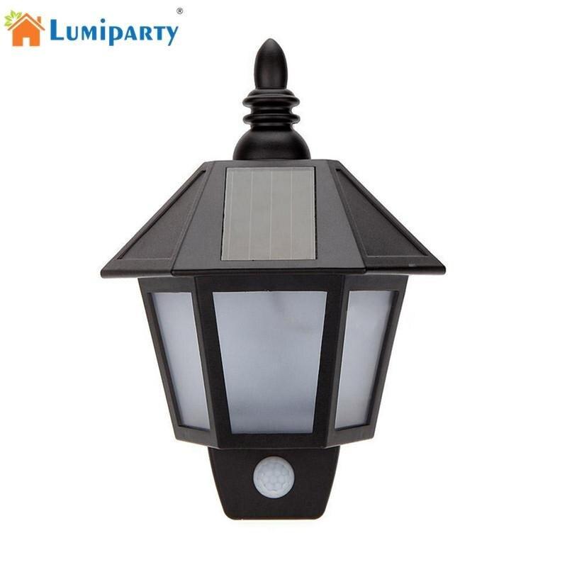 LumiParty PIR Infrared Body Motion Light Sensor Solar Power Panel Outdoor Solar Light LED Wall Light Yard Garden Light Lamp 12 led body sensor solar power light