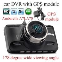 factory price with GPS module Ambarella A7LA70 Car DVR GS98C HD Camera DVR 178 Degree wide viewing angle DashCam night vision