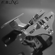 CNC Aluminum Motorcycle Rear License Plate Mount Holder with LED Light For TRIUMPH 675 STREET TRIPLE R RX AMERICA LT