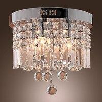 Flush Mounted Crystal Modern LED Ceiling Lamp With 5 Lights For Living Room Light Indoor Lighting