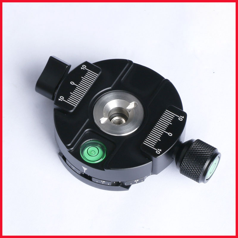 Panoramic Clamp Universal Camera Ball Head Tripod Head Disc Clamp Adapter Compatible For Arca Standard Quick Relaese Plate 130g