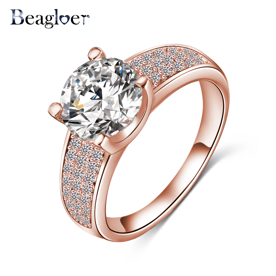 Beagloer 2016 New Arrival Simple Style Finger Ring Gold/Silver ...