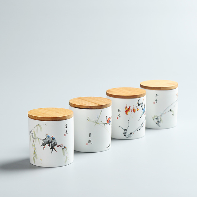 2018 China Storage High grade ceramic tea canister Gift storage jar