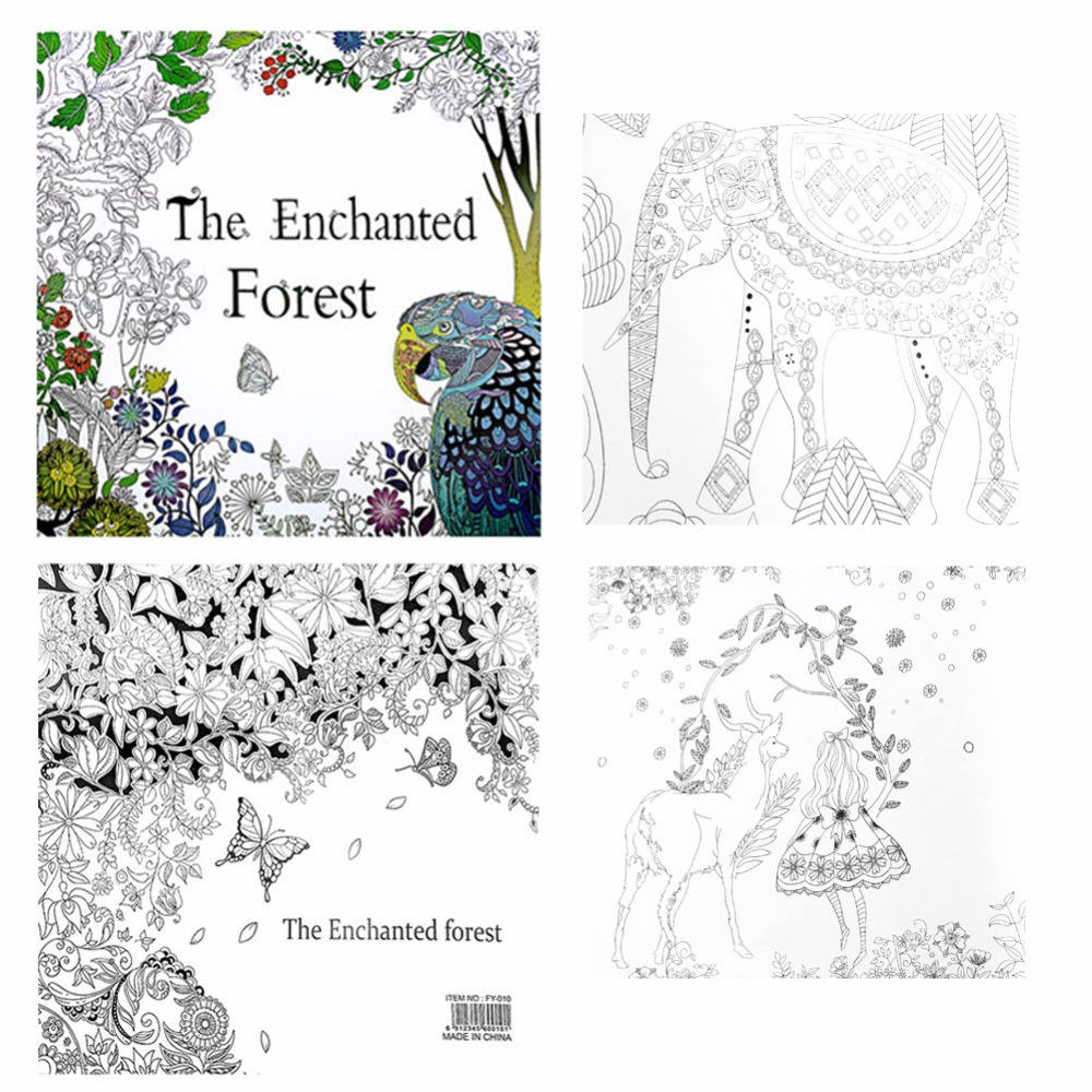 Cadeaux English Adult Youngs Graffiti Livres Le Enchanted Forest Coloring Book In Books From Office School Supplies On Aliexpress