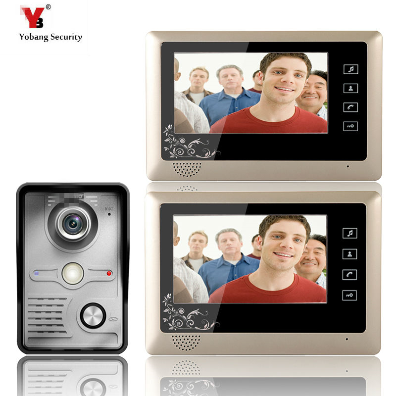 Yobang Security 7 LCD Video Door Phone Video Intercom Doorbell Home Security IR Camera Monitor With Night Vision Videoportero hot sale tft monitor lcd color 7 inch video door phone doorbell home security door intercom with night vision