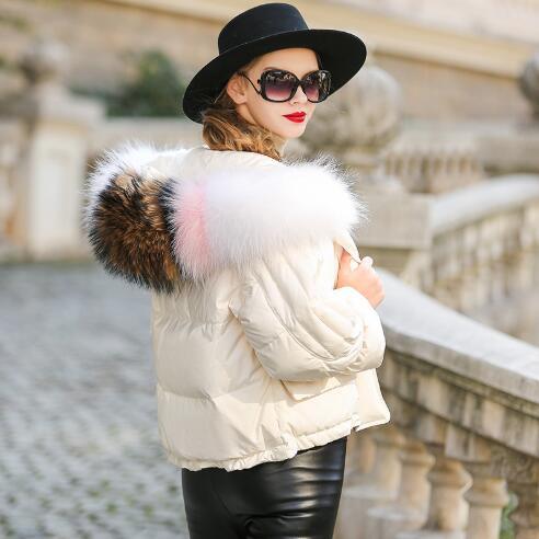 Col Plus Bas Le Chaud Mode Survêtement 2018 La Veste Femelle Black white Femmes Vers Neige Hiver Manteau Nouvelles Renard Parka Fourrure Épaississement Taille De Casual xHqFnw
