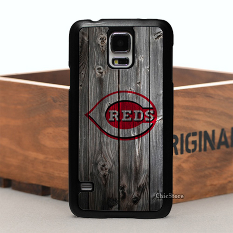 Cincinnati Reds Wood Logo PC Hard Case For Samsung Galaxy S4 5 6 Note3 4 5 7 and Case for Iphone5/5S 5C 4/4S i6/i6s Plus i7 Plus