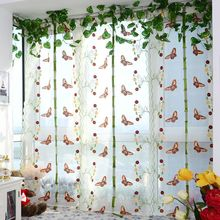 Fashion Curtains Indoor Butterfly Tulle Roman Shade 2 Colors Embroidered For The Living Room