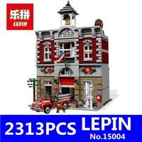 New LEPIN 15004 2313Pcs City Creator Fire Brigade Model Building Kits Figures Blocks Bricks Compatible Toys