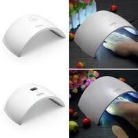 Fashion Portable UV Nail Art Lamp 24W 15 Leds Light Nail Dryer Hand Foot Nails Gel Polish Tools EU Plus For SUN9C/SUN9S