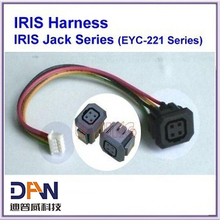 IRIS Connetor with soldered cable  CCTV Camera Jack & plug with 4P wired connector