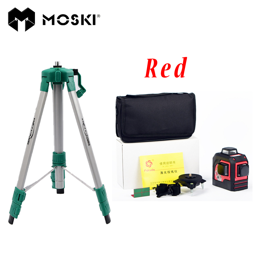 MOSKI MW 93T 1 Tripod 1 3D 12Lines font b laser b font level red ray