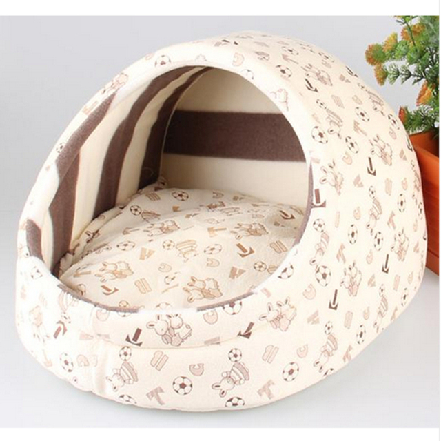 Pet cat dog bed house nest dog house cat bed kennel pet warm princess bed dog beds for small medium dogs cat house washable 1