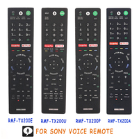 Used Original Voice Remote Control For SONY LCD LED Smart TV Remote RMF TX200U RMF TX200P RMF TX200A Google Netflix