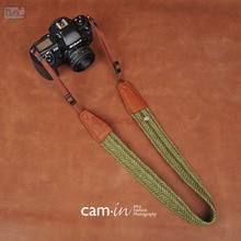 Green CAM in Universal Cotton Camera Neck Carrying Shoulder Strap for Sony Sigma Kodak Panasonic Fujifilm