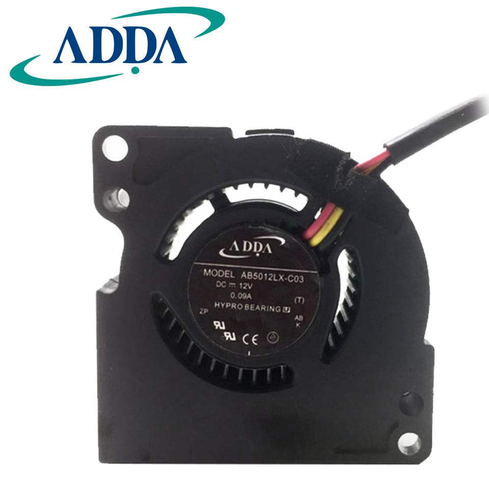 hight resolution of adda original ab5012lx c03 dc 12v 0 09a 5020 50 50 20mm 3 wires cooling fan for mp510 mp511 mp512 mp520 mp525 mp726 in fans cooling from computer office