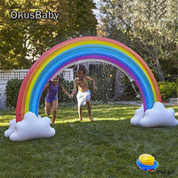 Summer Outdoor Garden Rainbow Toys Door Bridge Inflatable Spray Water Children Home Play Water Set Family Game With Free Pump
