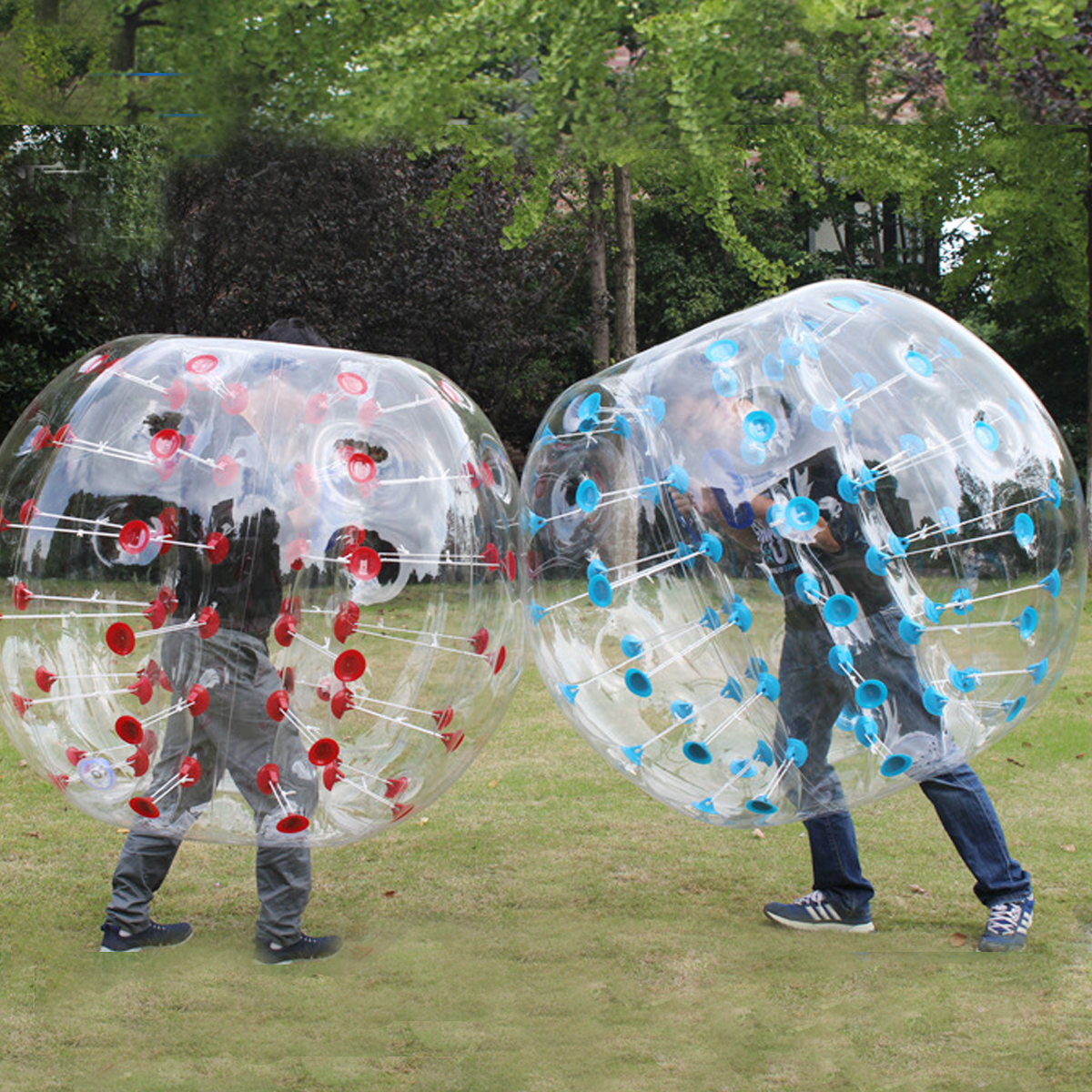 Ballon à bulles d'air extérieur 0.8mm PVC 100 cm Air pare-chocs ballon de football corps Zorb balle piscine jeu jouets de plein Air