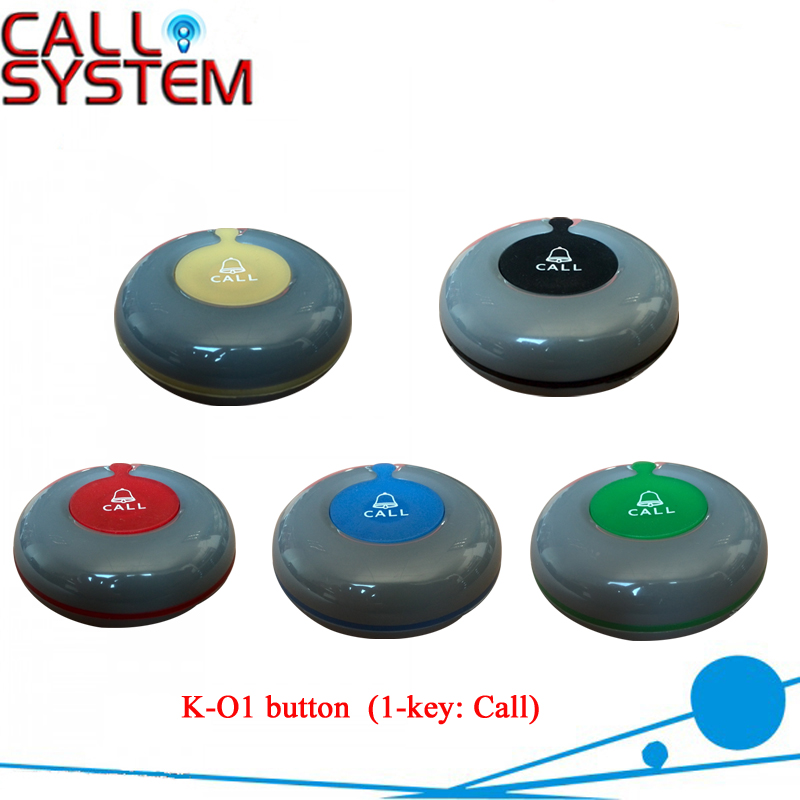 KOQI Wireless waiter calling button service ordering system K-O1 100% waterproof 433mhz 2 receivers 60 buzzers wireless restaurant buzzer caller table call calling button waiter pager system