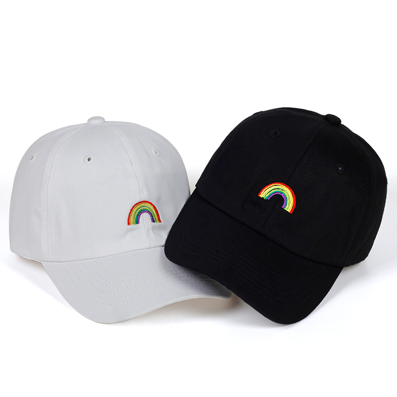 2018 new rainbow   Cap   Adjustable Hip Hop Snapback   Baseball     Caps   Men Women Fitted Trucker Dad Hat Bone Garros