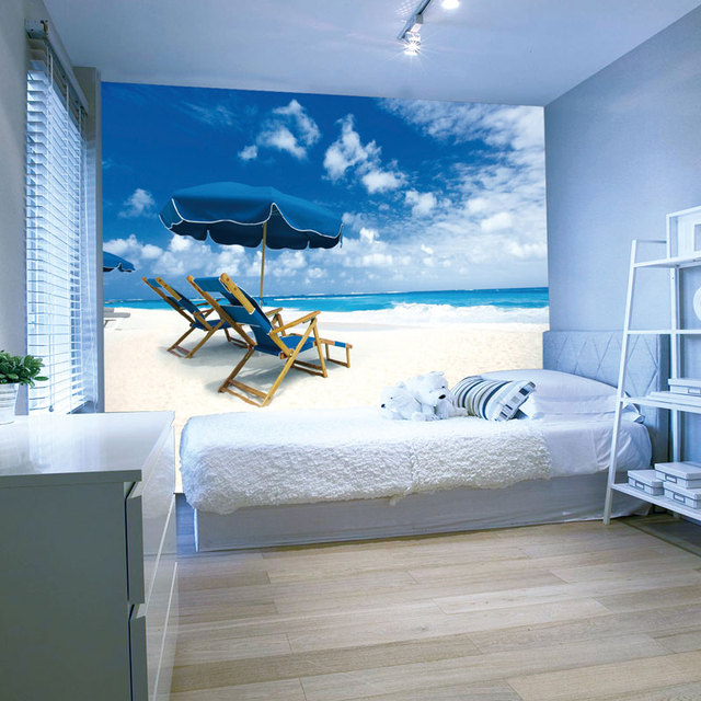 New Wall Sticker 3d Home Decor Living Room Bedroom Decoration Creative Blue Sky Clouds Sky