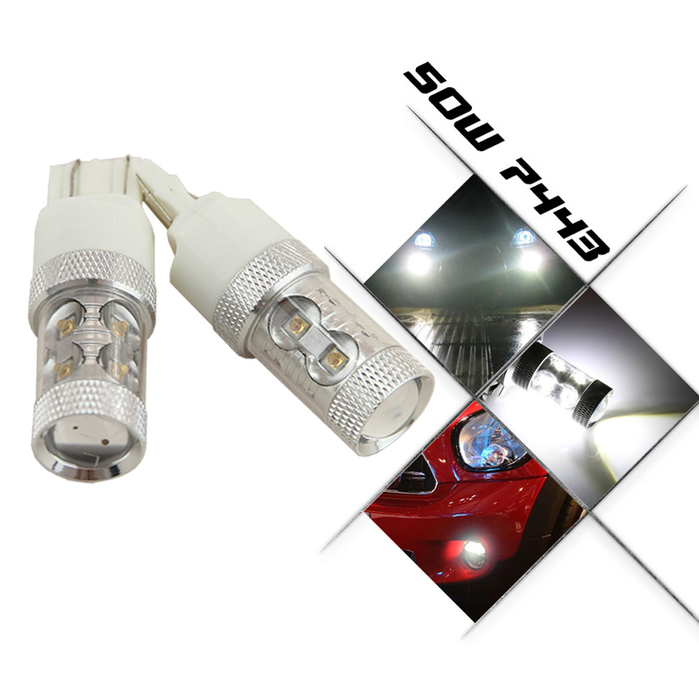 50w High Power Cree Chips Xtremely Super Bright 7443 7440 T20 Red 120v A C Lamp Flicker From Led Votive Candle Type 1 Cob Schematic Bulbs For Brake Tail Light