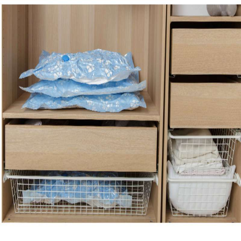 Image 2 - Arrival Flower Printed Foldable Extra Large Compressed Organizer Vacuum Bag Clothing Storage Bag Saving Space-in Storage Bags from Home & Garden