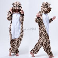 Leopard Grain Bear Onesies Pajamas  Jumpsuit  Hoodies Adults Cosplay Kigurumi Costumes for Halloween and Carnival