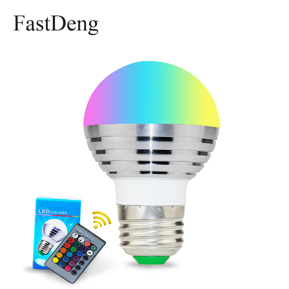 RGB Bulb Lamp E27 E14 LED Bulb 16 Colors Dimmable 110V 220V LED Smart Lights For Home Holiday Decoration With Remote Control