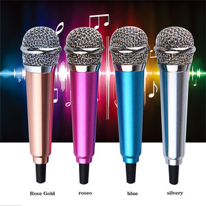 Image 4 - Aluminium alloy Mini 3.5mm Handheld Karaoke KTV Cellphone Microphone Wired Small Recorder Microphone for Cellphone Computer
