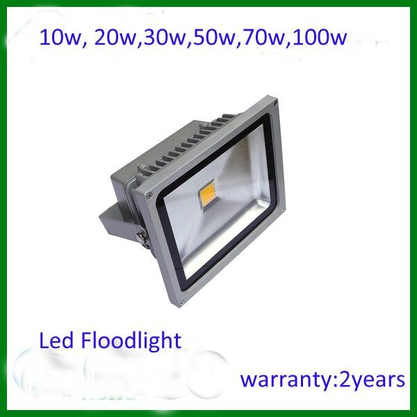 10W 20W 30W 50W 70w Landscape Lighting IP65 LED Flood Light Floodlight LED street Lamp Free Shipping