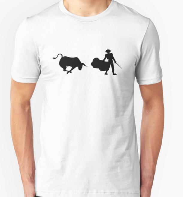 Short Sleeve 100% Cotton Slim T Shirt Casual Fashion T-shirt Matador and Bull Brand Design 2016 New Arrival Mens Summer Style