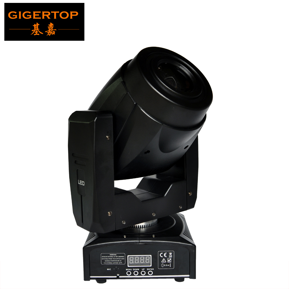 Freeshipping TP-L6 Q2 60W Led Moving Head Light White Color Lamp DMX 4/15 Channels 3-facet Prism Mini Size Bright to 90W Lux