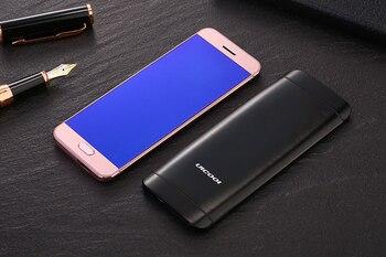 Corpo In Metallo Originale Ulcool V26 Display Touch Bluetooth 2.0 Dialer Dual Sim Carta Di Credito Mobile Delle Cellule Del Telefono + Caso + Protezione Dello Schermo