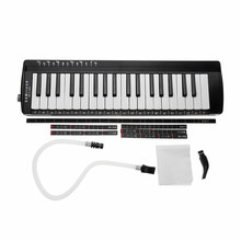 Swan 37 Keys Teaching Music-fundamentals Mouth Organ Melodica Black Color Keyboard Musical Instruments Accordion Tool Accessory